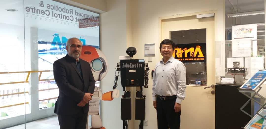 IAU chancellors Meeting with Robotic International president Prof. Changju to follow up competitions in Dubai
